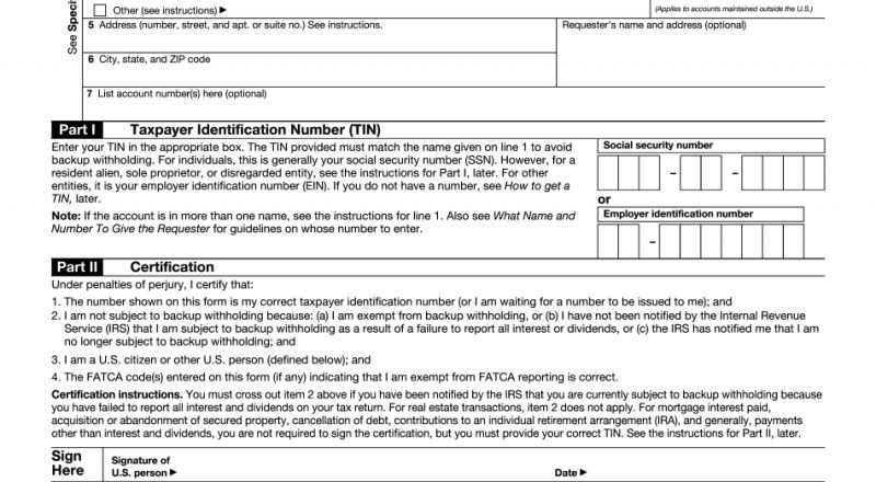 W9 Form - Free Printable, Fillable | Download Blank Online-Printable 2021 W 9 Forms Blank Free Pdf
