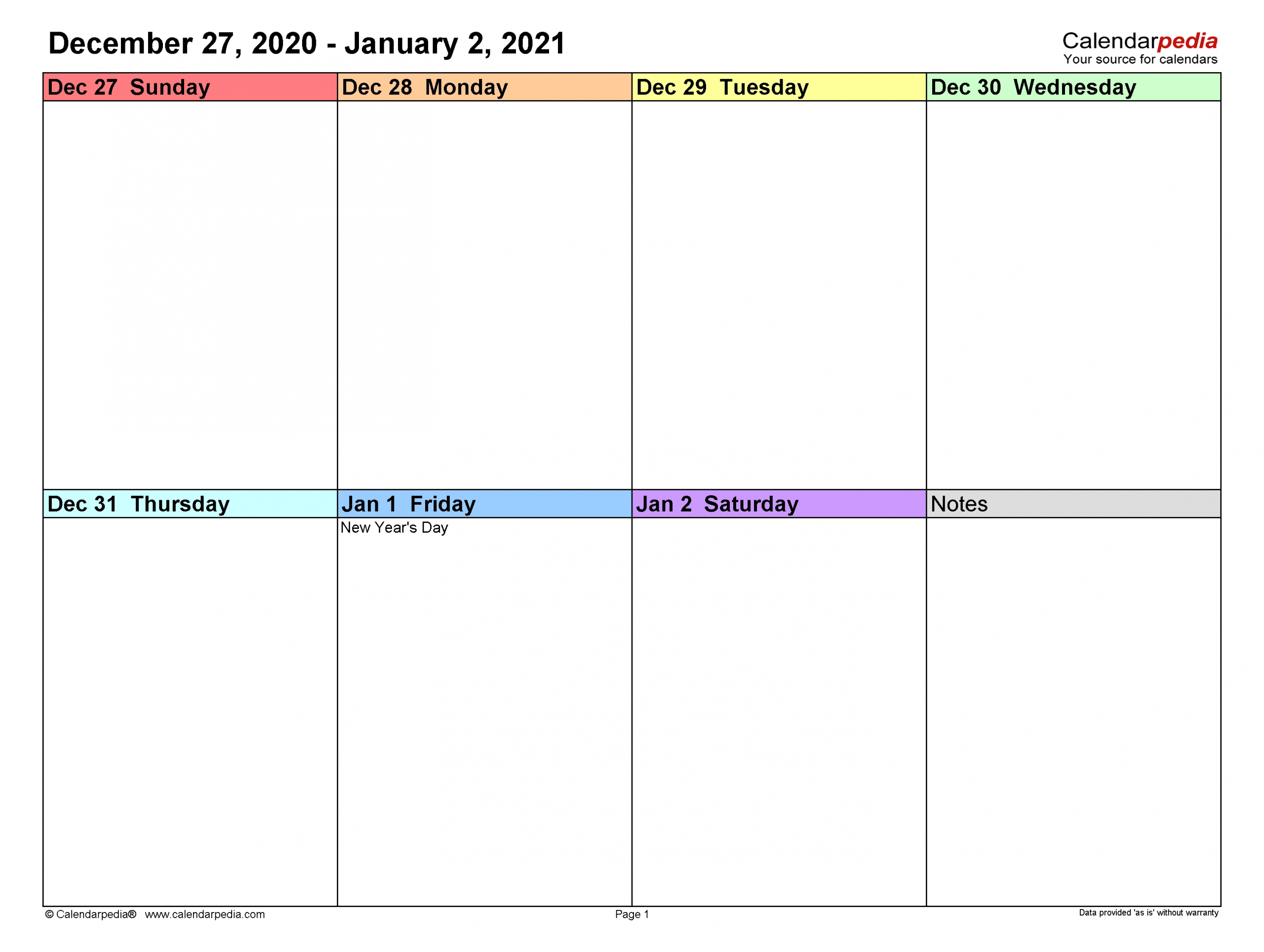 Weekly Calendars 2021 For Pdf - 12 Free Printable Templates-4 Inch By 7 Inch 2021 .Pdf Calendar