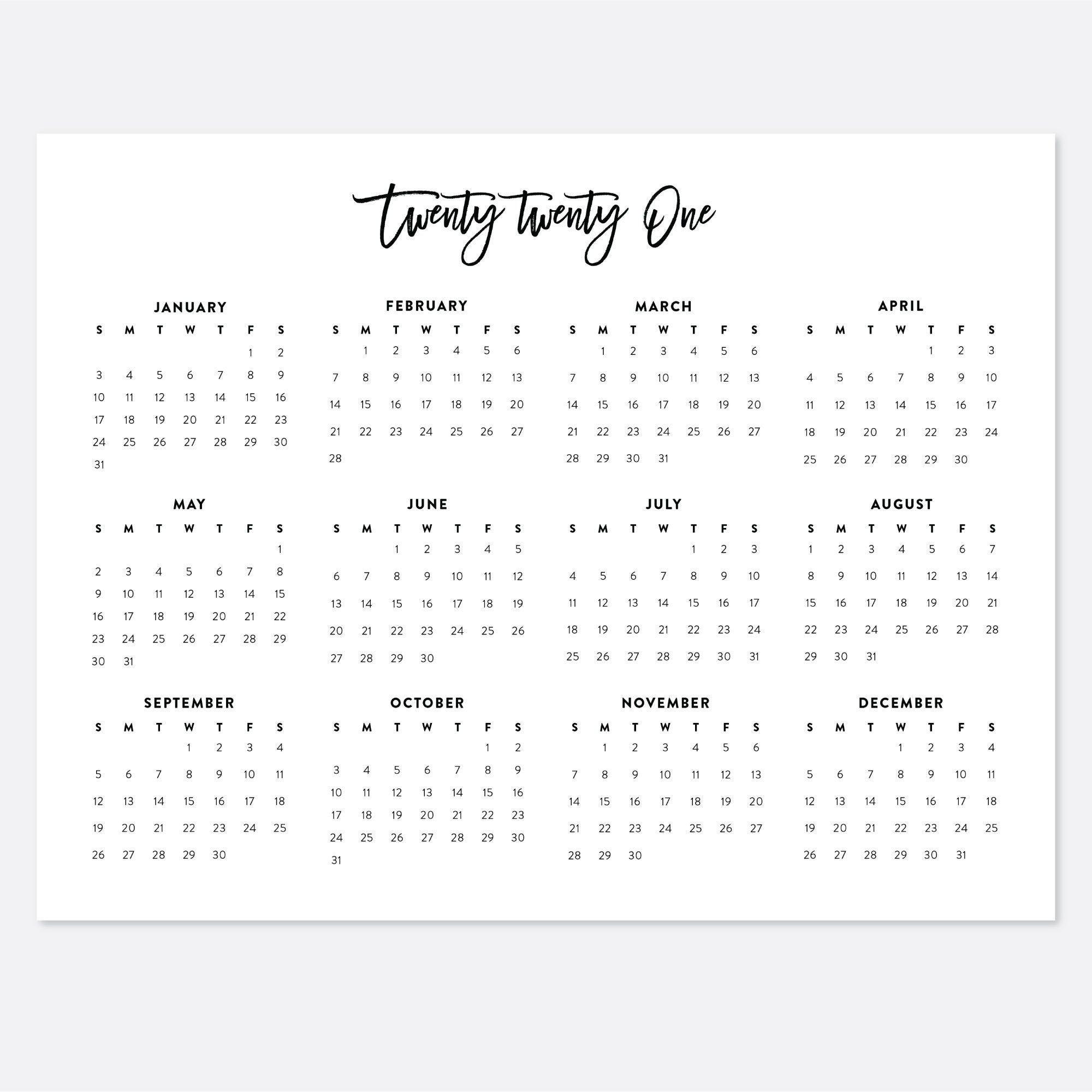 20+ 2021 Calendar 8 5 X 11 - Free Download Printable-Printable 81/2 X 11 January 2021 Calendar