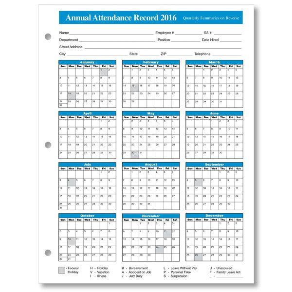2016%2Bemployee%2Battendance%2Bcalendar%2B3 | Calendar-Employee Attendance Calendar 2021