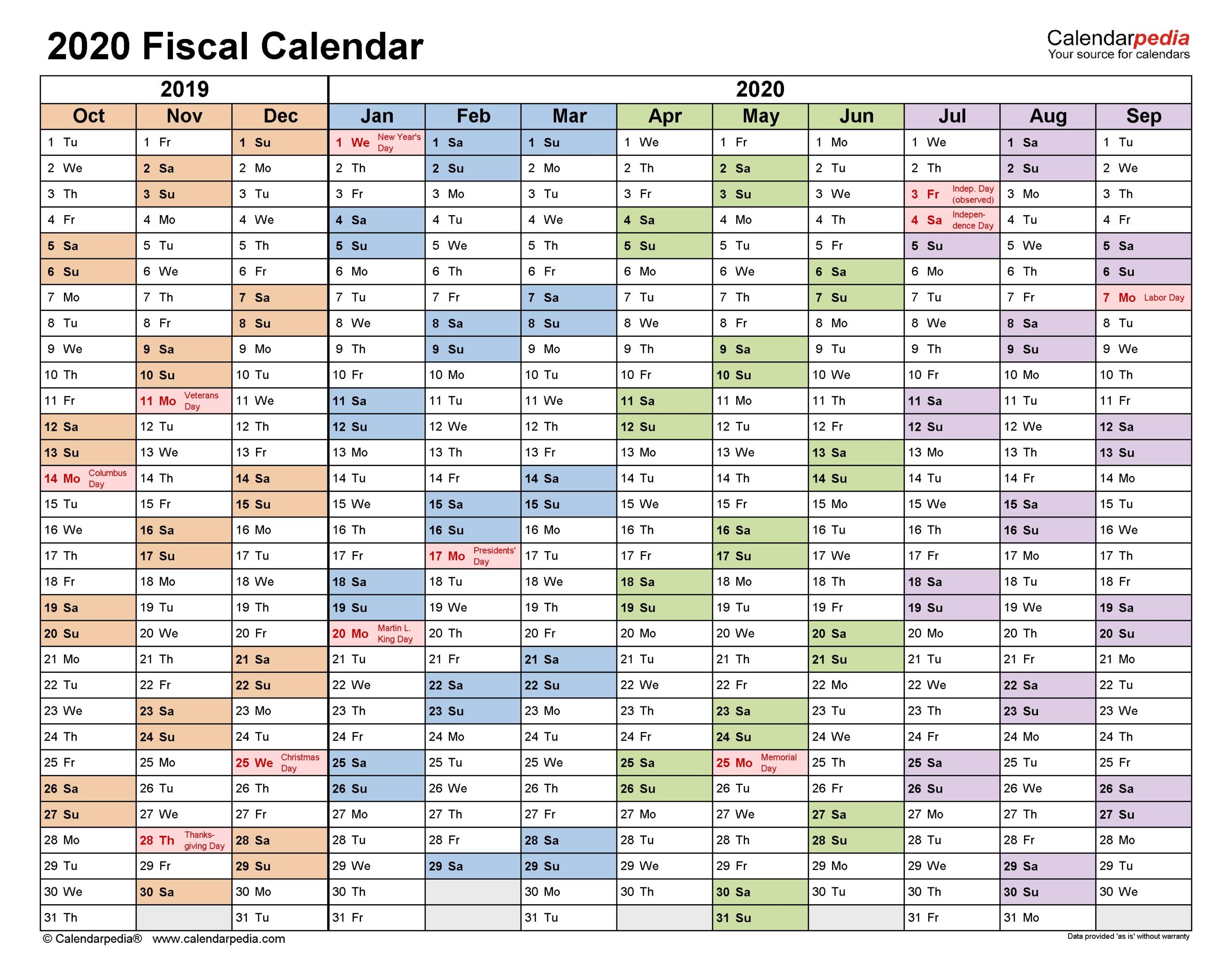 2020 2021 Financial Calendar - Template Calendar Design-Printable Bill Calendar 2021