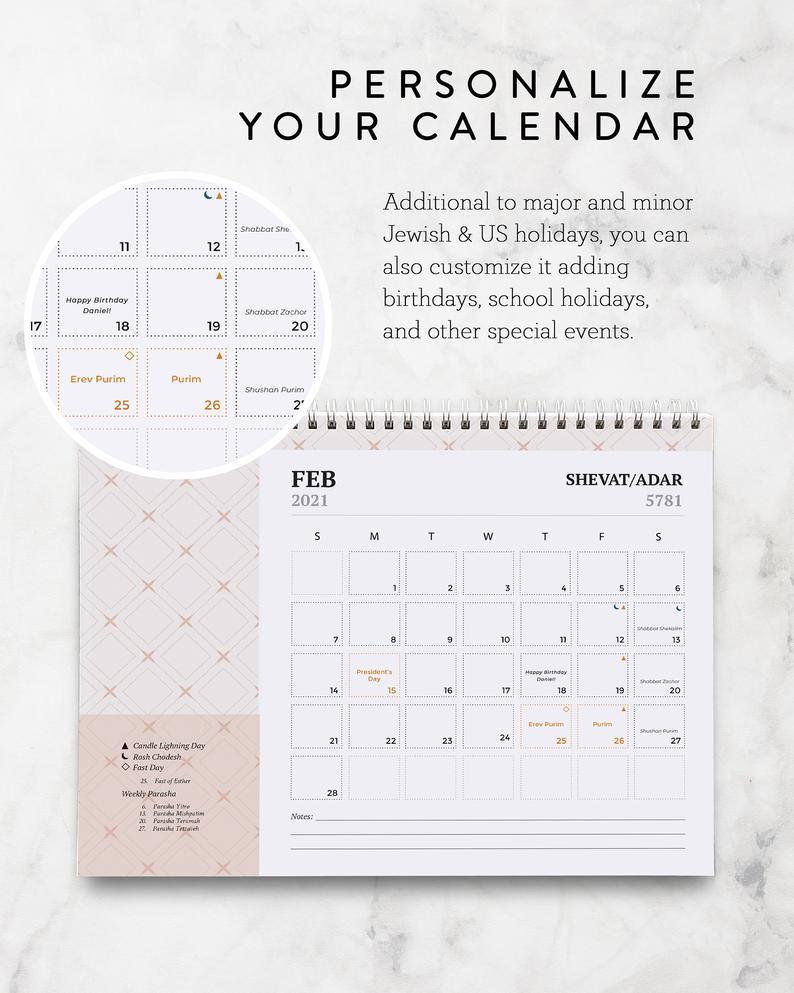 2021 American Jewish Printable Calendar Jewish Holidays-Jewish Holidays 2021