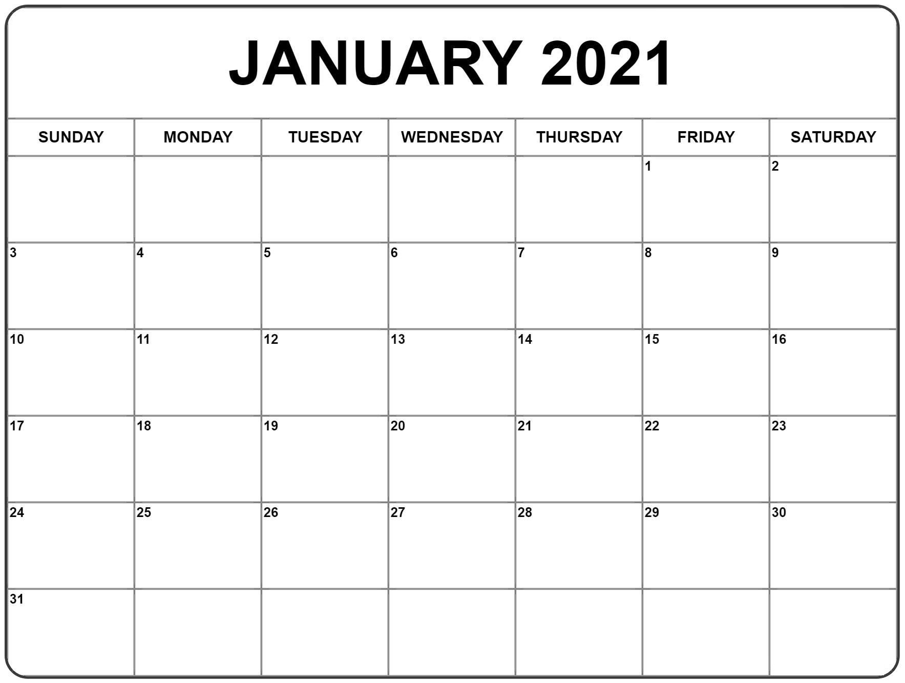 2021 Attendance Calendar Printable Pdf - Template Calendar-2021 Calendar Fillable