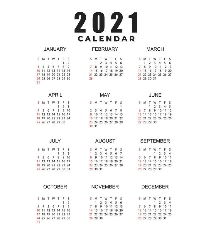 2021 Calendar Printable   12 Months All In One   Calendar-Excel 2021 Calendar Vertical List