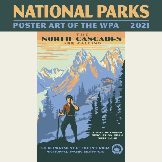 2021 National Parks Poster Art Of The Wpa Mini Wall-National Food Days Calendar 2021
