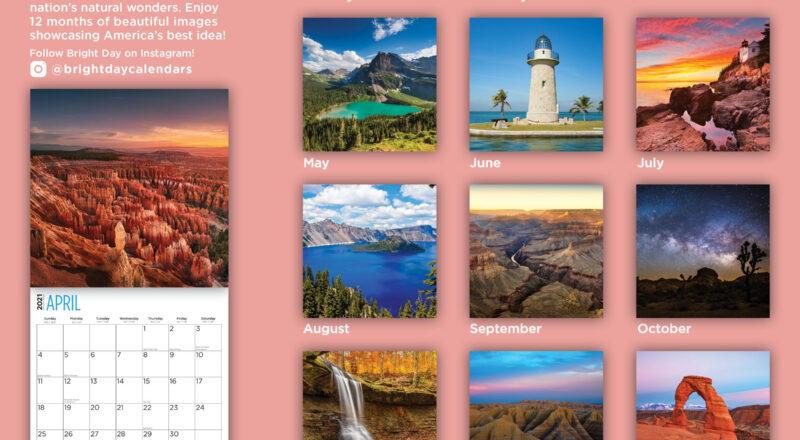 2021 National Parks Wall Calendar - Bright Day Calendars-National Food Days Calendar 2021