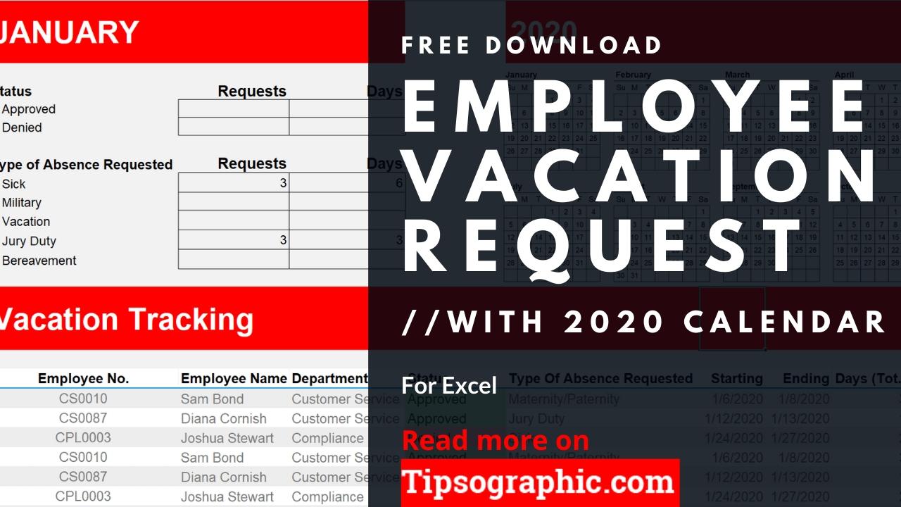 2021 Pto Calendar Template Excel • Printable Blank-2021 Employee Vacation Calendar