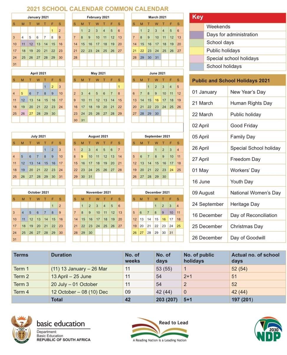 2021 South African Calendar   Calendar Template Printable-2021 Calendar South Africa