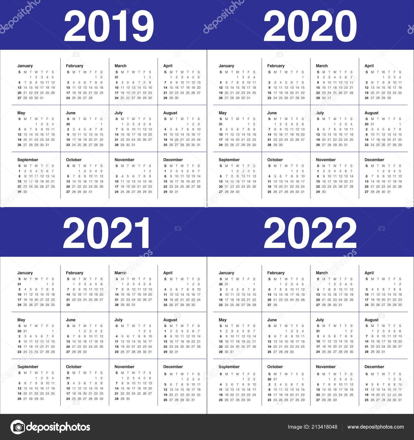 2021 Yearly Calendar With Boxes   Calendar Template Printable-Fillable Calendar 2021-2021 Year