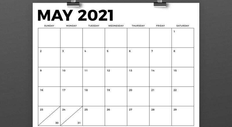 8.5 X 11 Inch Bold 2021 Calendar (438443)   Flyers-Free Printable 2021 8 X 10 Monthly Calendars