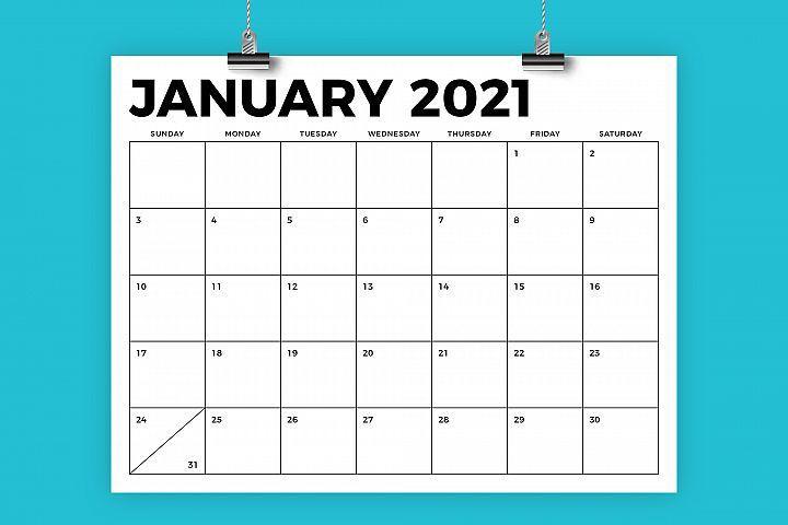 8.5 X 11 Inch Bold 2021 Calendar (438443)   Flyers-Printable 81/2 X 11 January 2021 Calendar