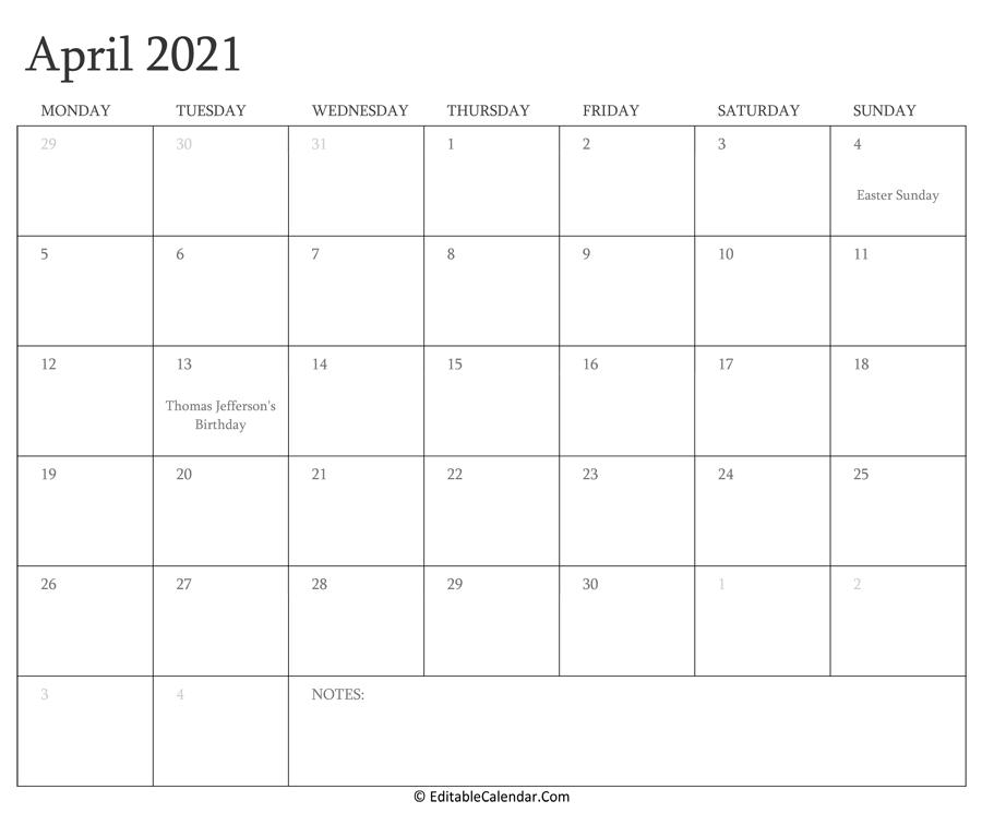 April 2021 Calendar Templates-Printable List Of 2021 National Days