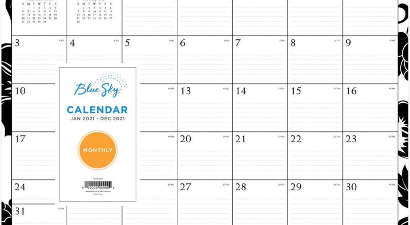 Blue Sky Barcelona Ruled Blocks Wall Calendar - Julian-Julian Dates 2021