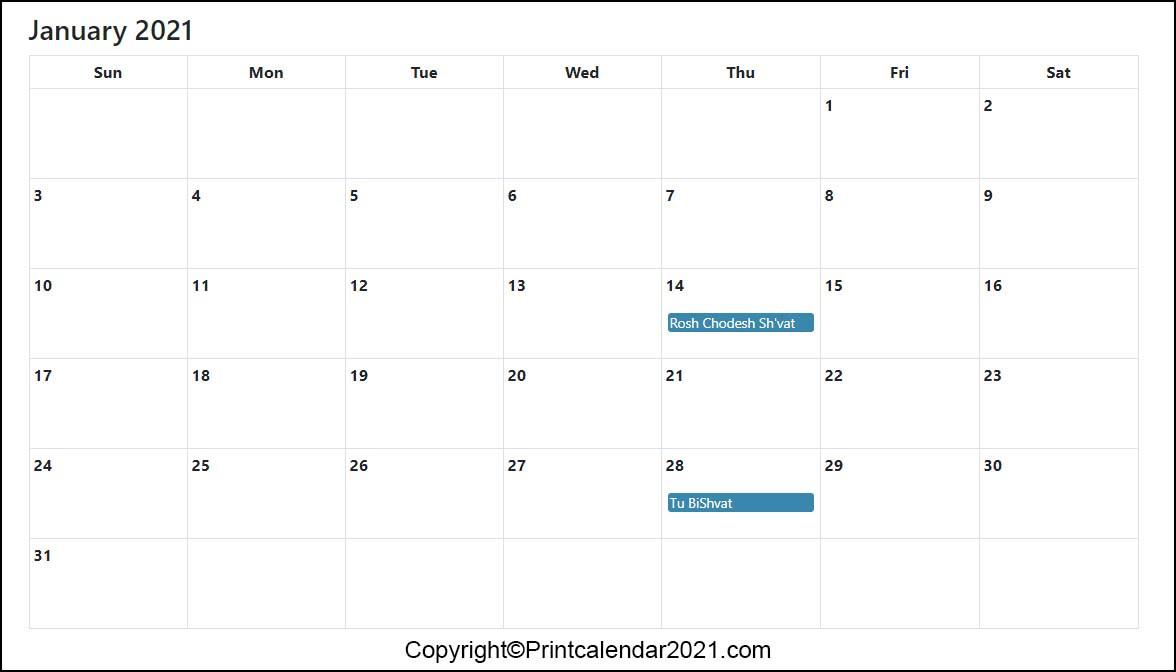 Calendar For 2021 With Holidays And Ramadan : Ramadan 2021-Jewish Holidays 2021