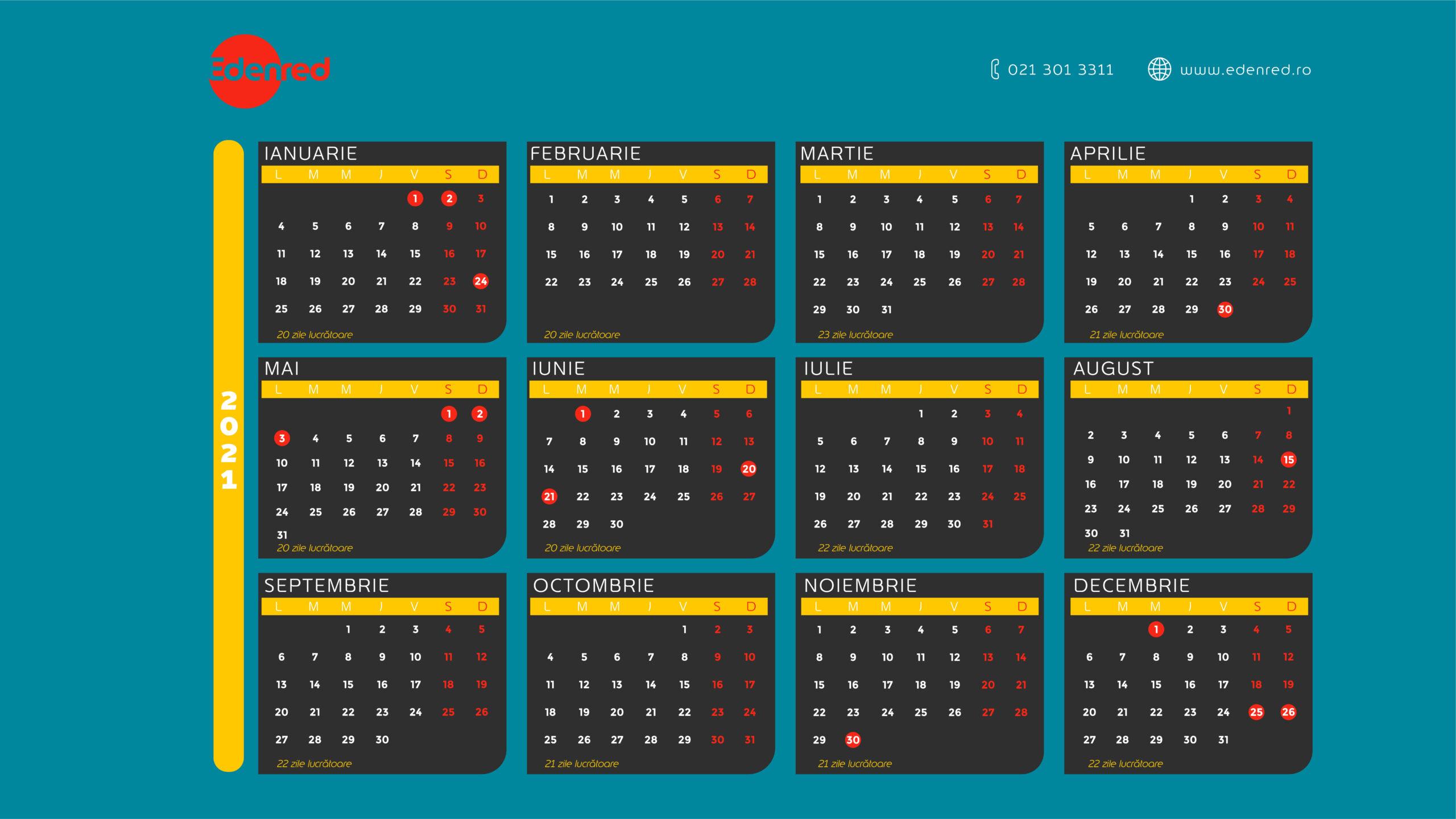 Calendar Of Working Days 2021 | Edenred-National Food Days Calendar 2021