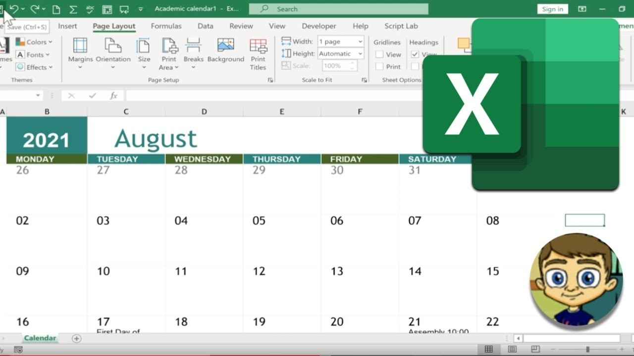 Calender In Excel 2021 | Month Calendar Printable-Excel Calendar 2021 With Week Numbers