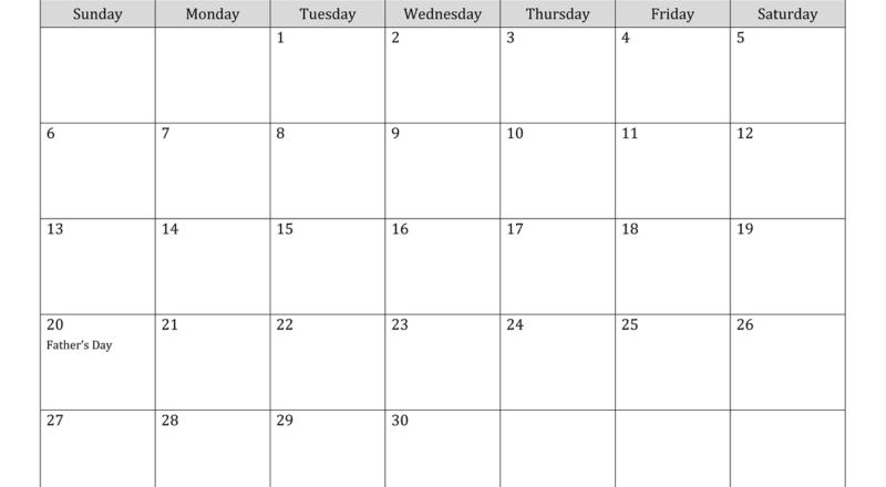 Canada June 2021 Calendar With Holidays-June 2021 Calendar