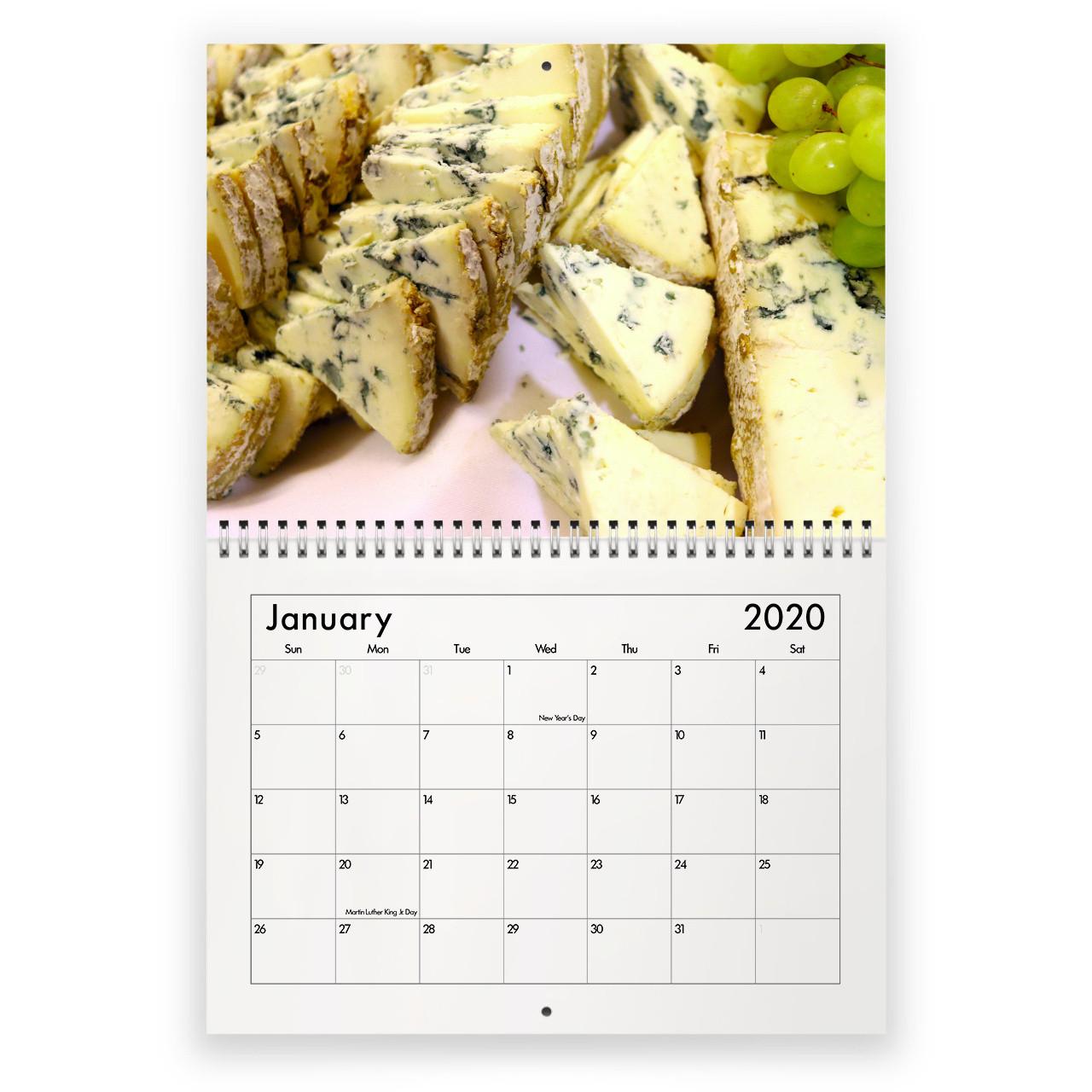 Cheese 2021 Calendar-National Food Days Calendar 2021