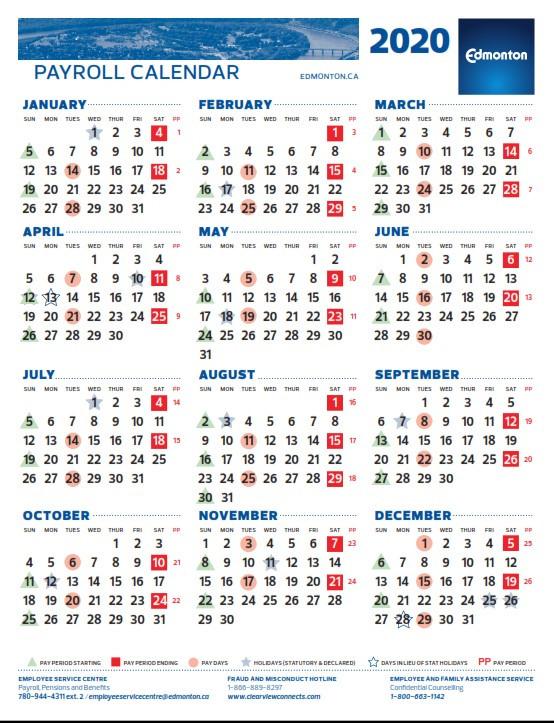 City Of Edmonton Pay Period Calendar 2021 | 2021 Pay-2021 Payroll Calendar Semi Monthly