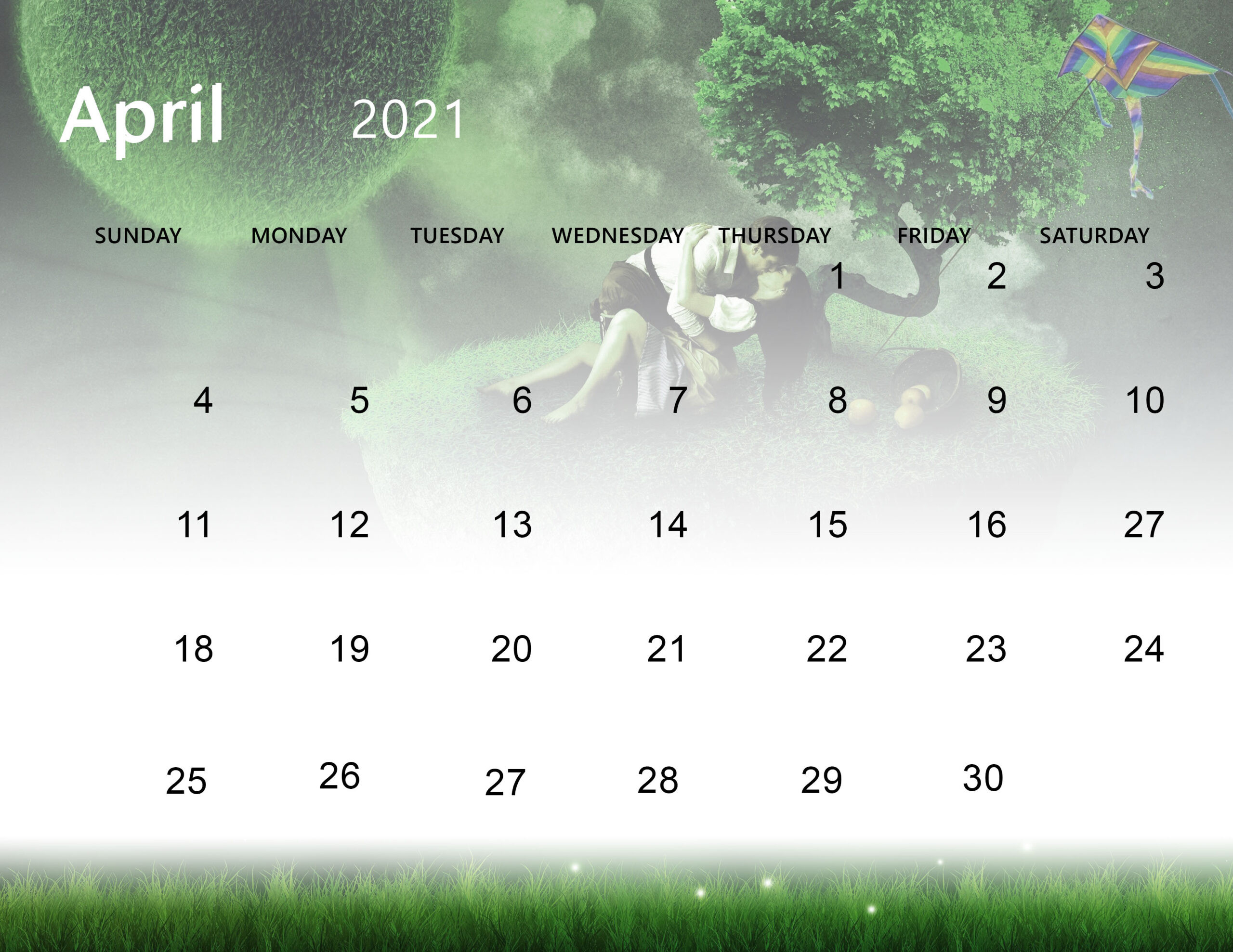 Cute April 2021 Calendar Desktop Wallpaper - Thecalendarpedia-Monthly Calendar 2021 For Wallpaper