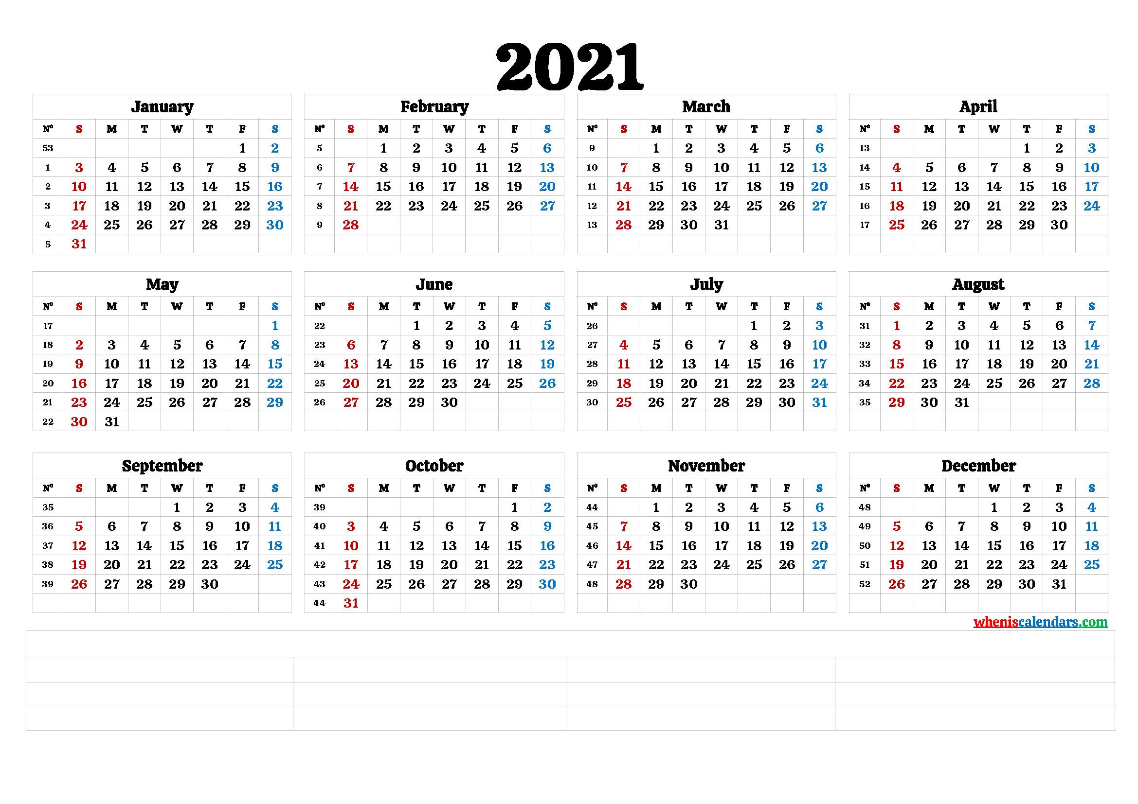 Cute Printable Calendar 2021 (6 Templates)-Fillable Calendar 2021-2021 Year