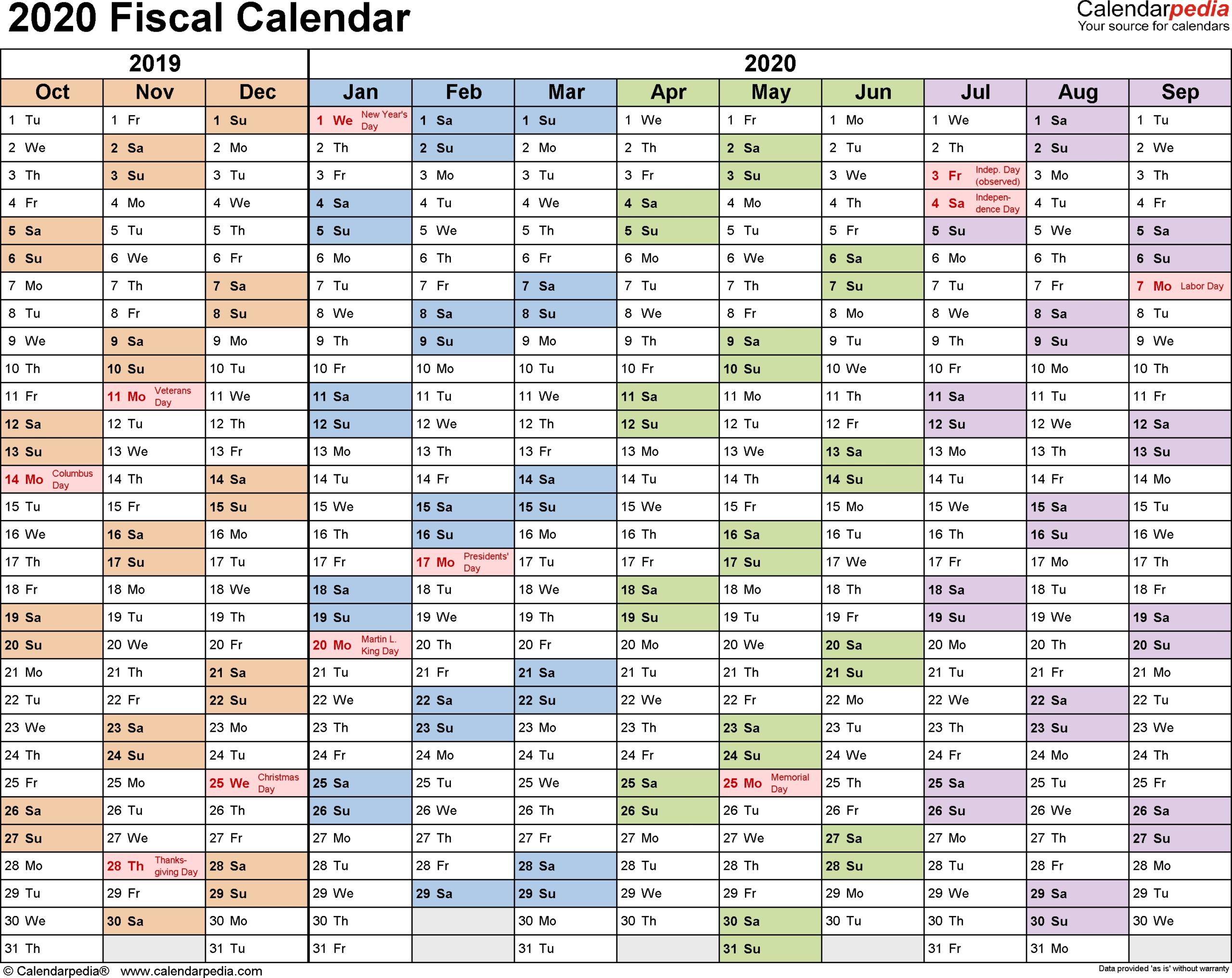 Federal Pay Period Calendar 2020 - Calendar Inspiration Design-Printable Bill Payment Calendar 2021