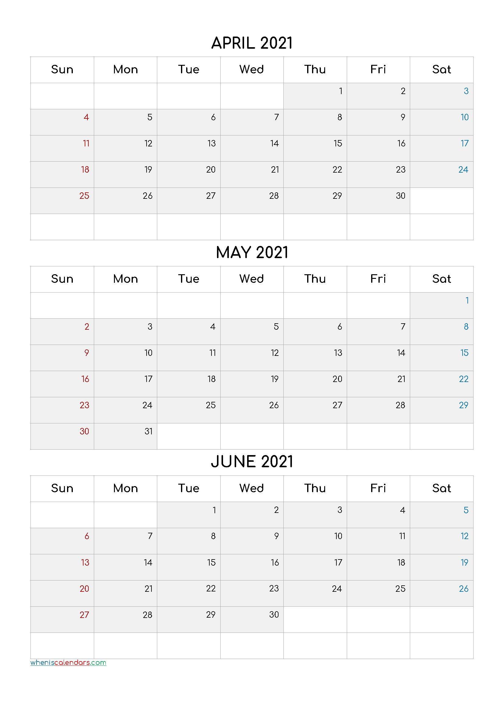 First Quarter Months 2021 | Month Calendar Printable-3 Month Printable Calendar Templates 2021