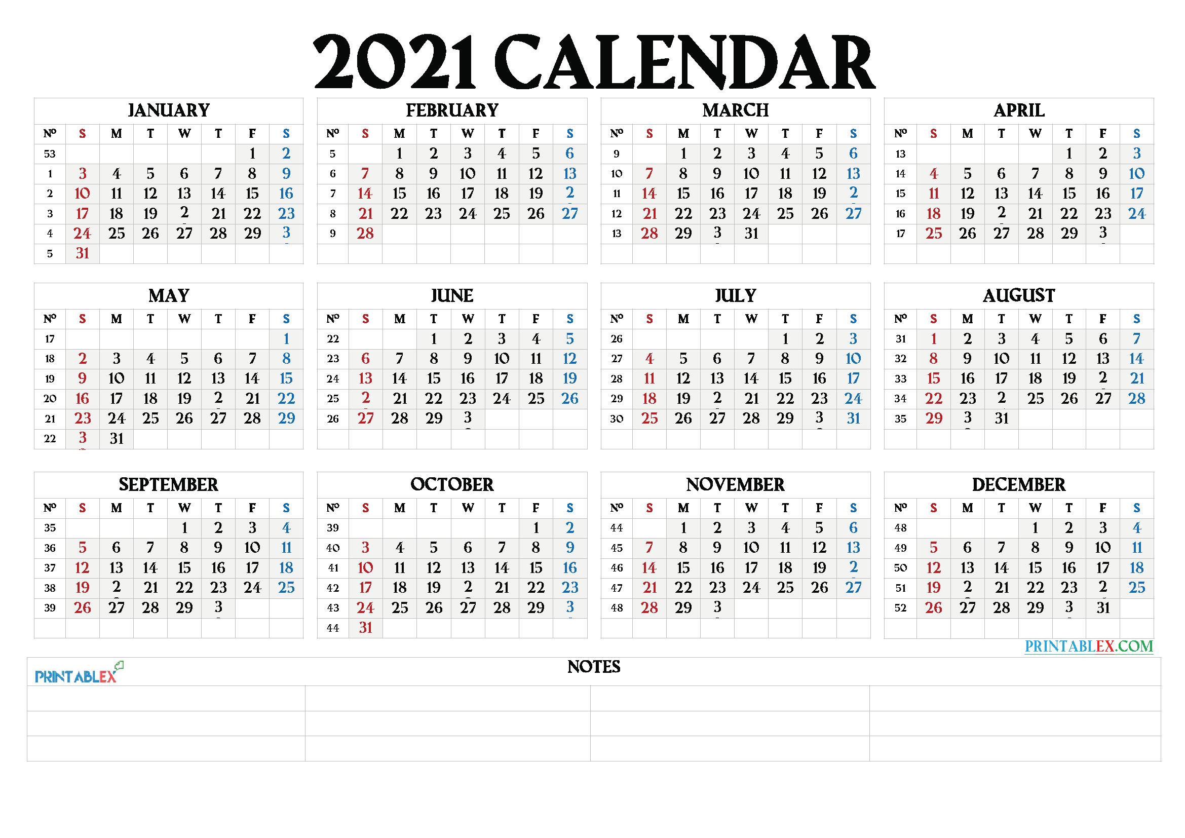Free 12 Month Word Calendar Template 2021 : 2021 Calendar-Fillable Calendar 2021-2021 Year