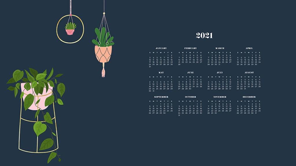Free 2021 Wallpaper Calendars - 50+ Cute Design Options To-Monthly Calendar 2021 For Wallpaper
