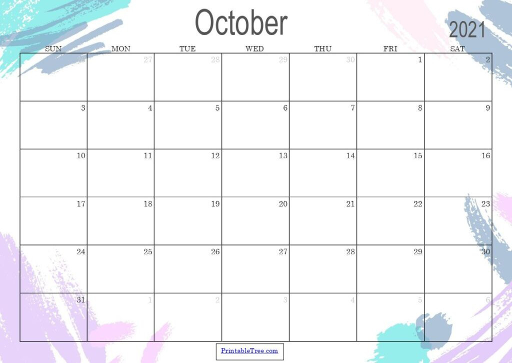 Free Download October 2021 Printable Calendar Pdf Templates-Monthly Schedule Planner August 2021