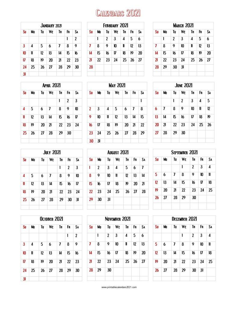 Free Printable Calendar 2021 Large Print   Calendar-Rut In Wv 2021