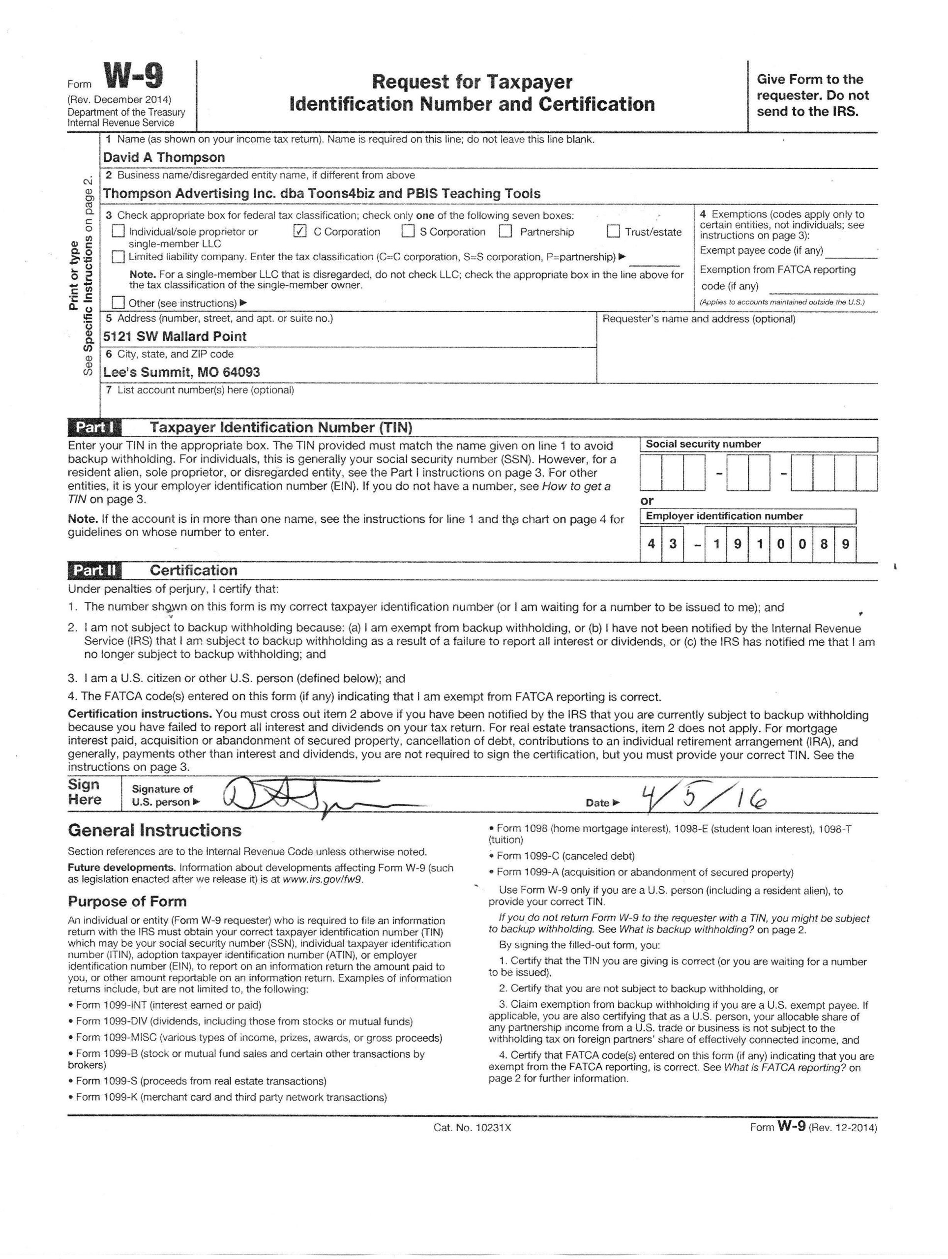 Free W9 Forms 2021 Printable Pdf   Calendar Printables-Print 2021 W9