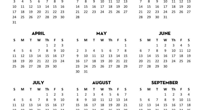 Full Year Printable Calendar 2021 With Notes | Free-Fillable Calendar 2021-2021 Year