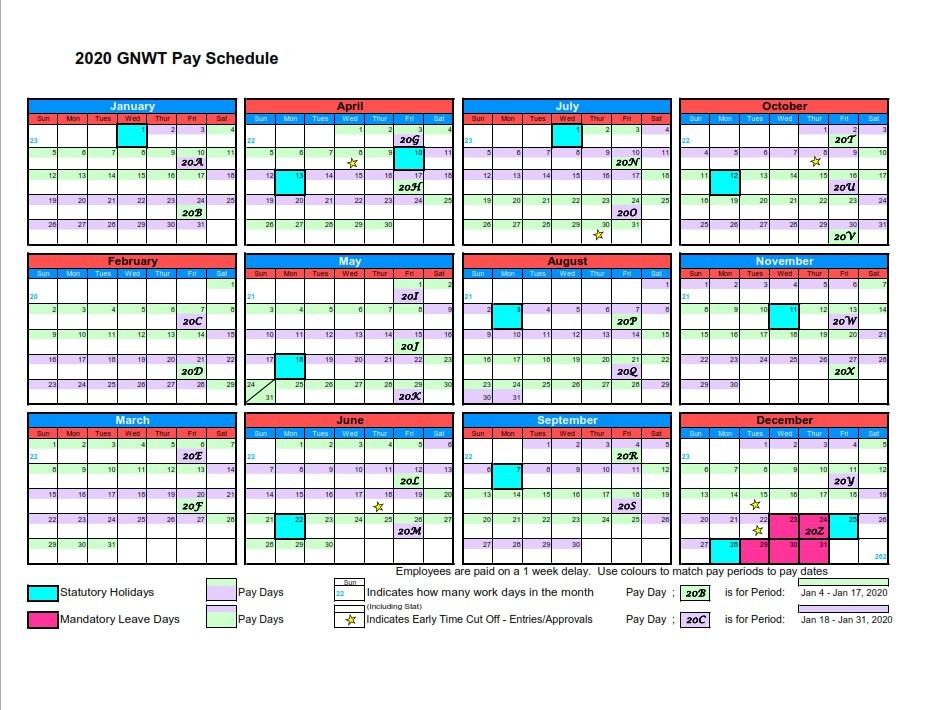 Gnwt Pay Period Calendar 2020 | 2021 Pay Periods Calendar-2021 Payroll Calendar Semi Monthly