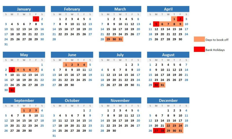 Hack Your Annual Leave In 2021 For More Days Off - Roaming-2021 Uk Calendar With Bank Holidays