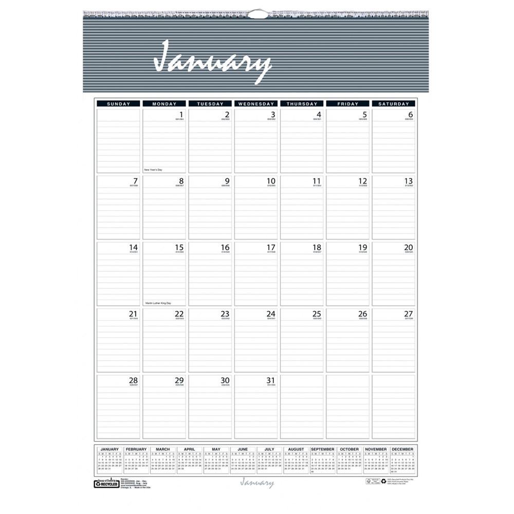 """House Of Doolittle 331Hd Bar Harbor 8 1/2"""" X 11"""" Recycled-Printable 81/2 X 11 January 2021 Calendar"""