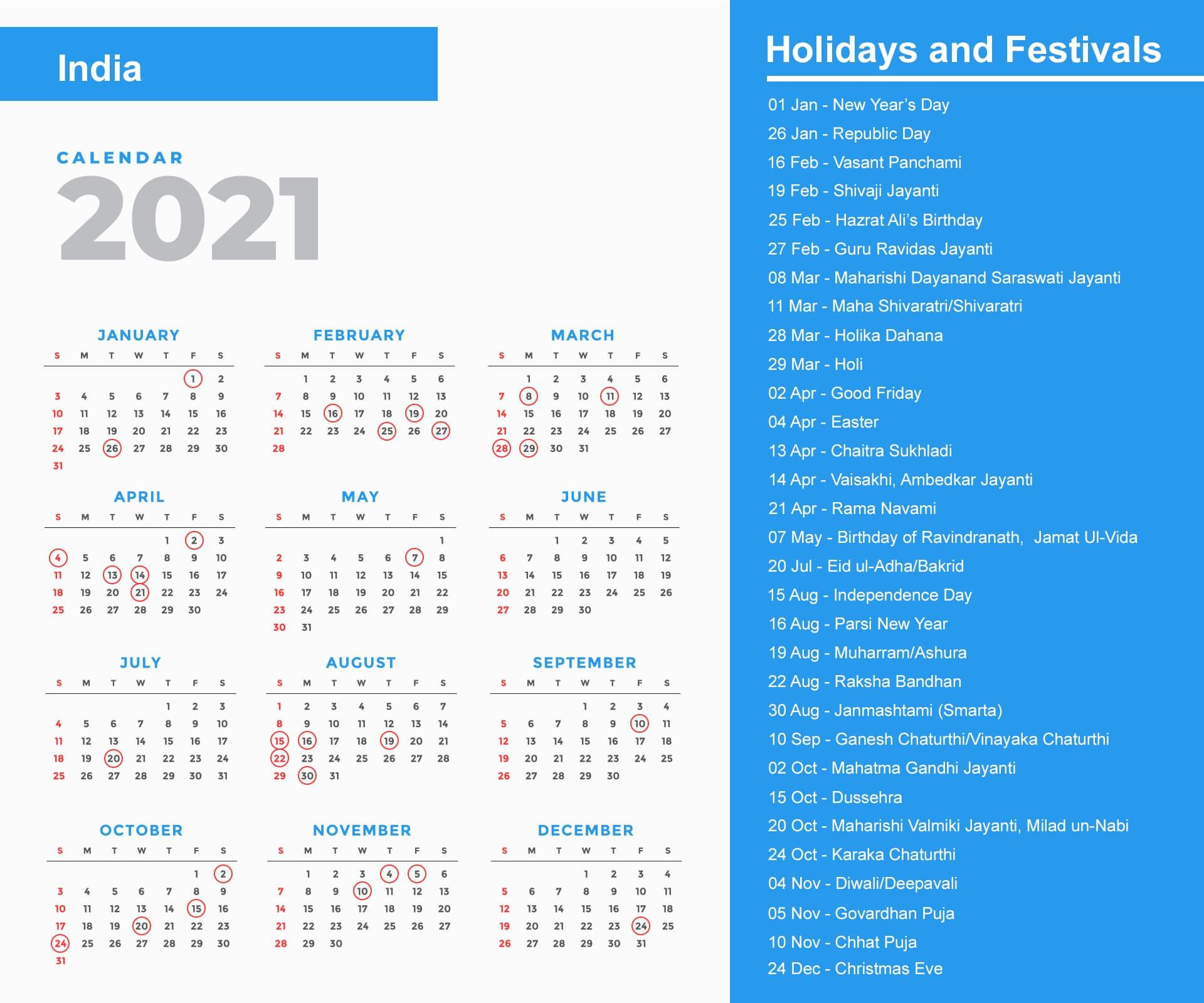 India Holidays 2021 And Observances 2021-2021 Holidays Mercantile Sl