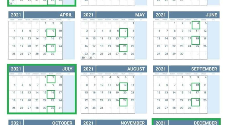 January 2021 - Template Calendar Design-Printable Bill Calendar 2021