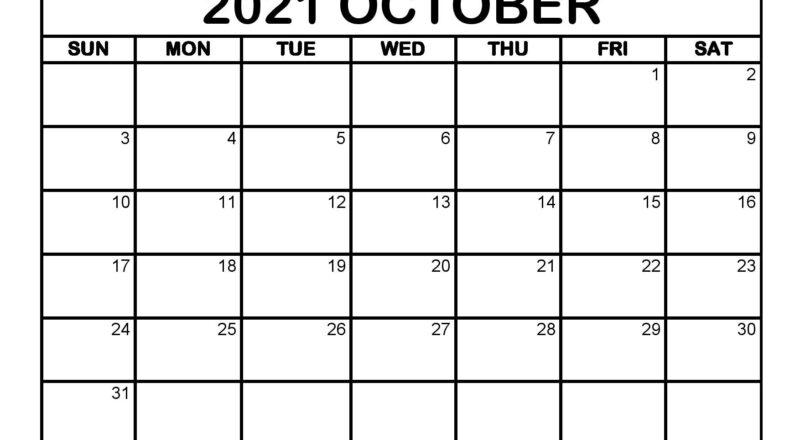 October 2021 Calendar Editable Printable | Monthly Calendar-Monthly Schedule Planner August 2021