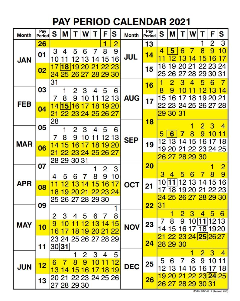 Opm Federal Pay Period Payroll Calendar 2020 - Template-Printable Bill Payment Calendar 2021