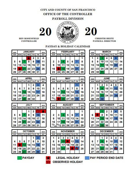 Pay Period Calendar 2020 San Francisco | 2021 Pay Periods-2021 Payroll Calendar Semi Monthly