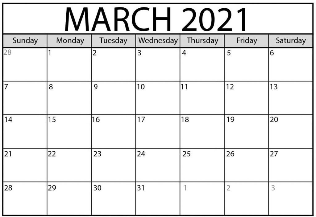 Print Calendar For March 2021 Monthly Fillable Sheets-2021 Calendar Fillable