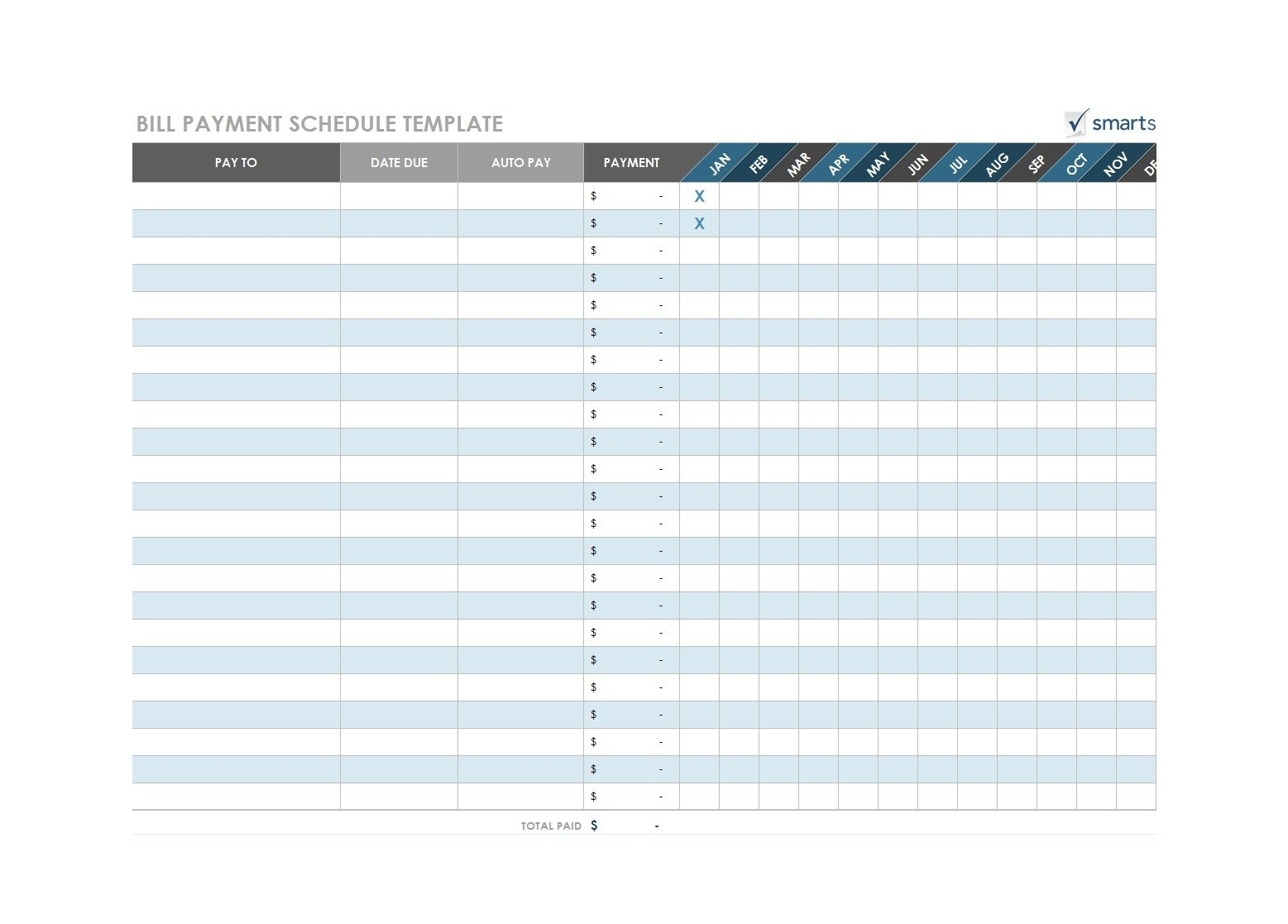 Printable Bill Pay Calendar 2020 - Template Calendar Design-Printable Bill Calendar 2021