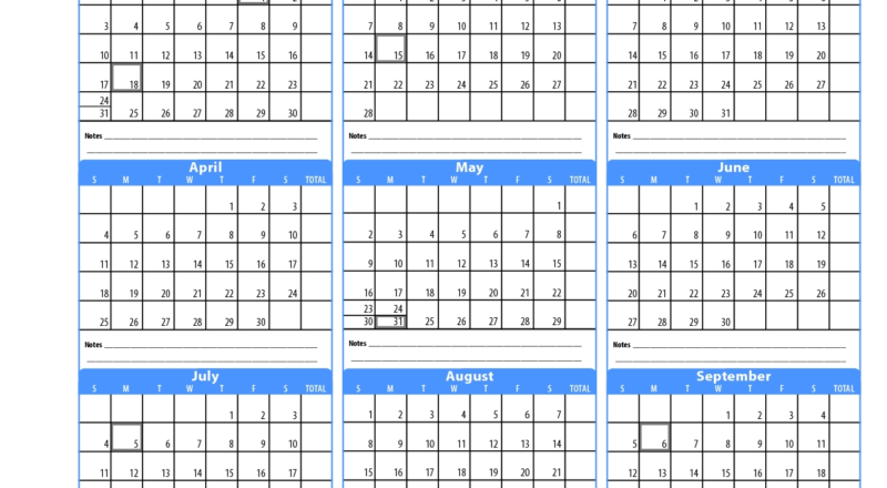 Printable Employee Attendance Calendar 2020 - Calendar-Employee Attendance Calendar 2021