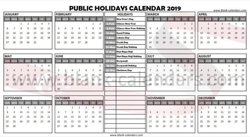 Singapore Holidays 2019 Calendar | Holiday Calendar-2021 Sri Lankan Calendar With Mercantile Holidays