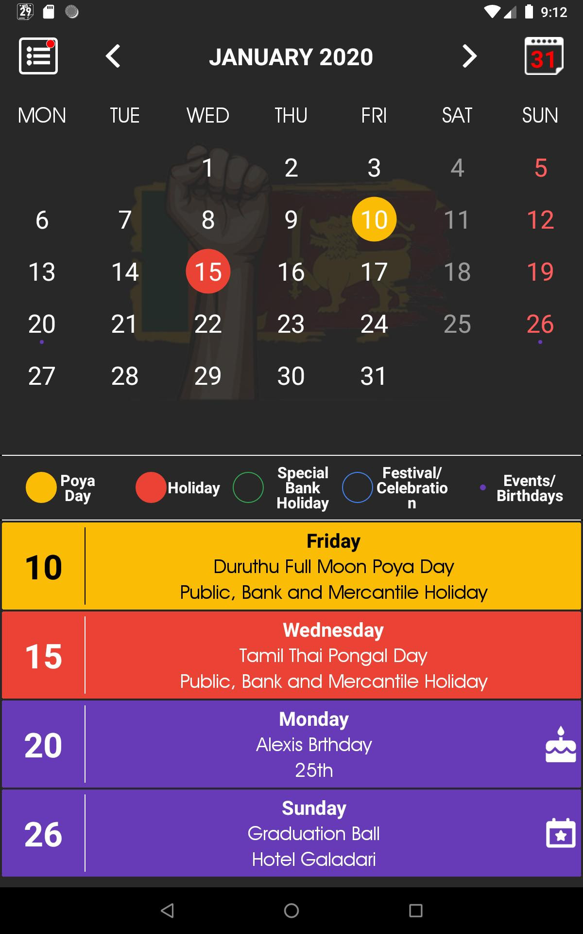 Sri Lanka Calendar 2021 🇱🇰 ¦ Sinhala ¦ Holidays For-2021 Holidays Mercantile Sl
