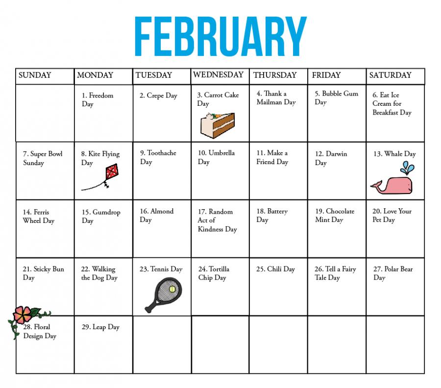 The Kirkwood Call   Fun National Holiday Calendar: February-Printable List Of 2021 National Days