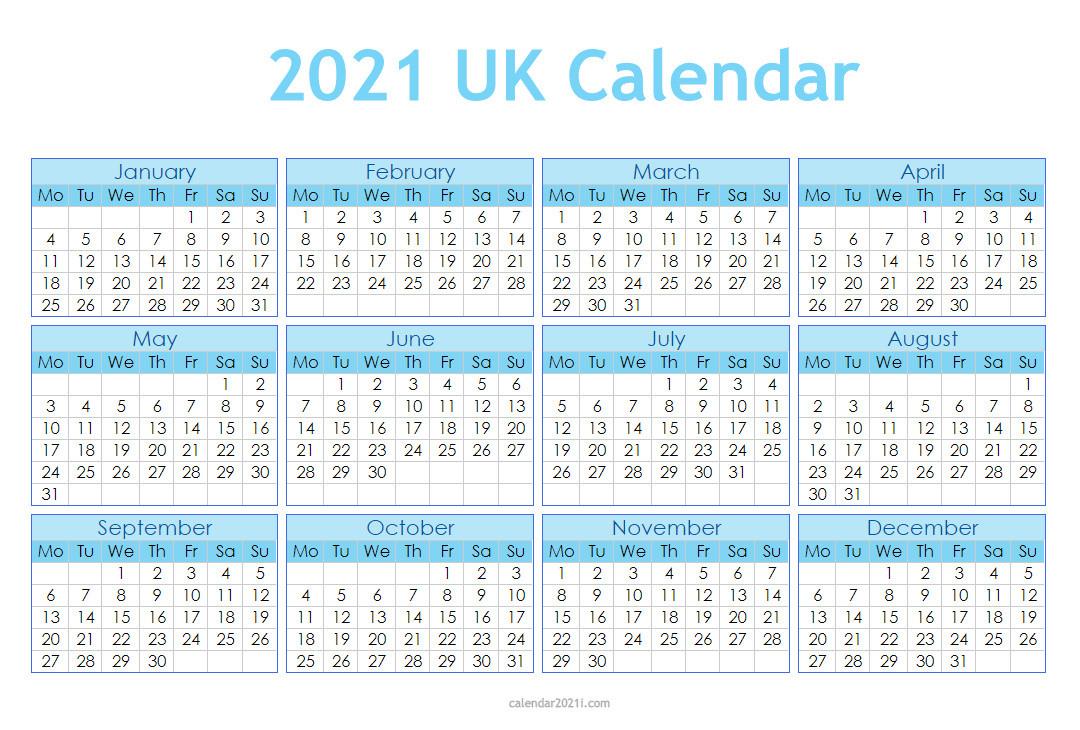 Uk 2021 Calendar Printable Holidays Word Excel Pdf-Excel List Of Holidays 2021