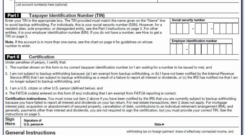 W9 Forms 2020 Blank | Calendar Template Printable-Form W-9 2021 Printable