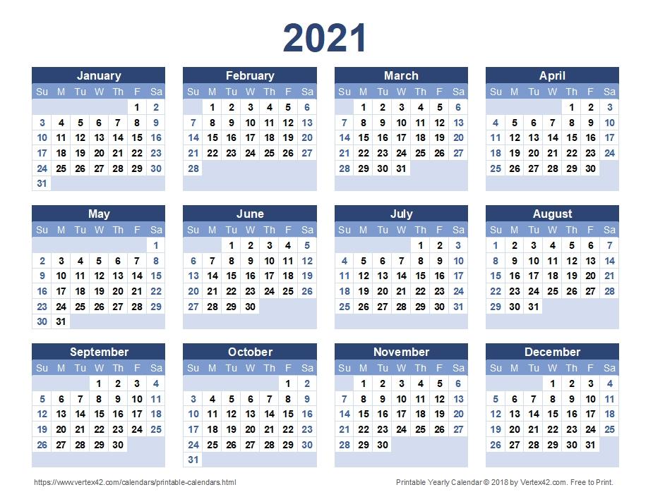 Yearly Calendar For 2021   Qualads-Printable Bill Calendar 2021